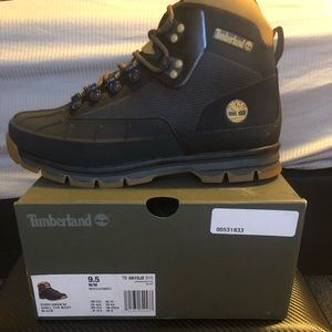 Mens Timberland Euro Hiker Shell-Toe Jacquard Boot